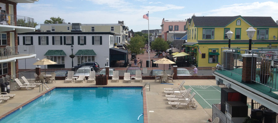 Cape May hotel with swimming pool